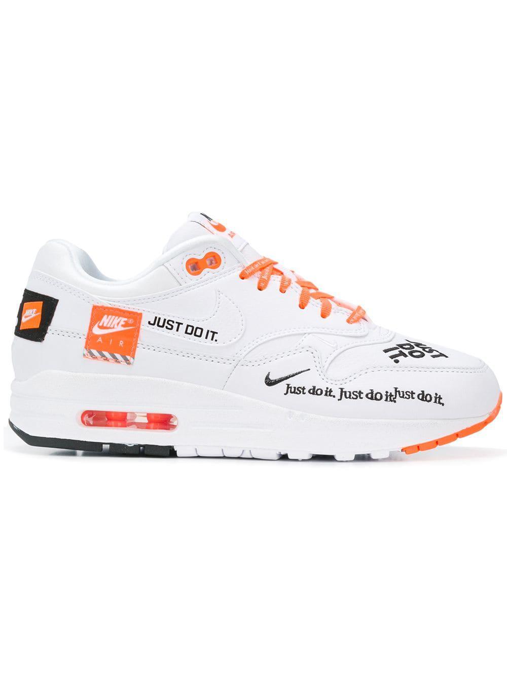 Baskets Air Max 1 Just Do It Cuir Nike pour homme en coloris Blanc ...