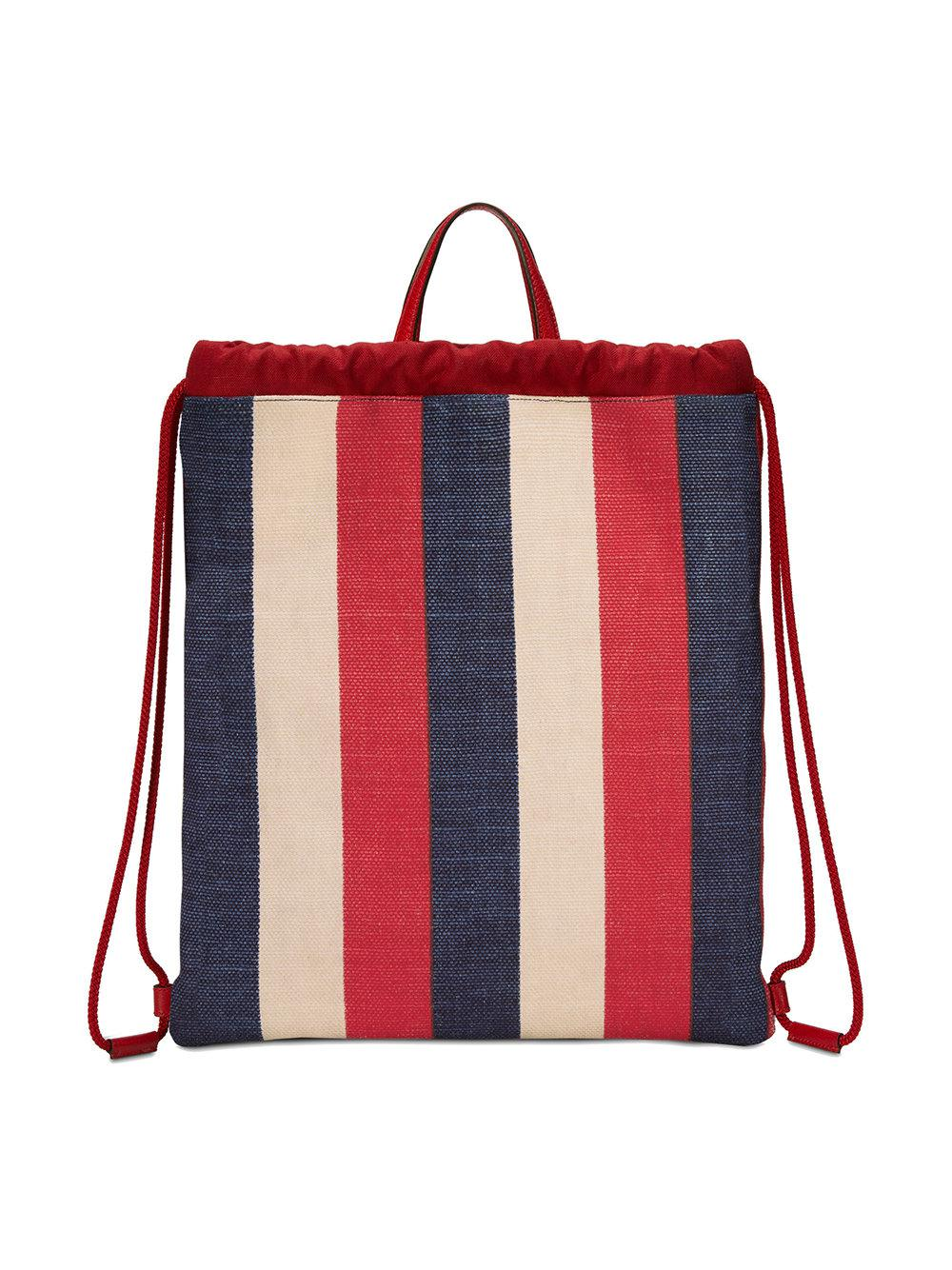 d53d00fdffe6 Gucci - Red Print Medium Drawstring Backpack for Men - Lyst. View fullscreen