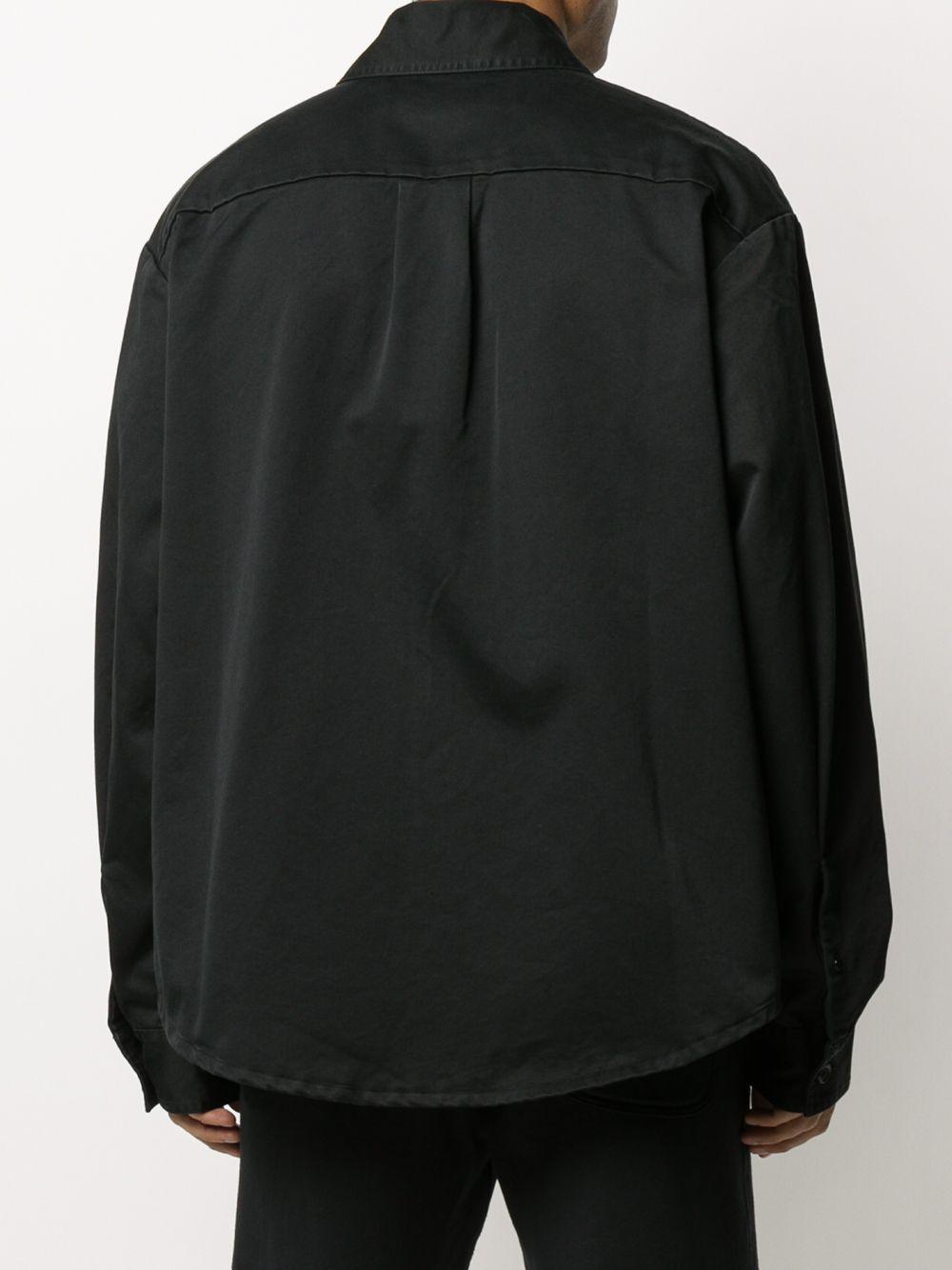 Off-White c/o Virgil Abloh Denim Oversized Overhemd in het Zwart voor heren