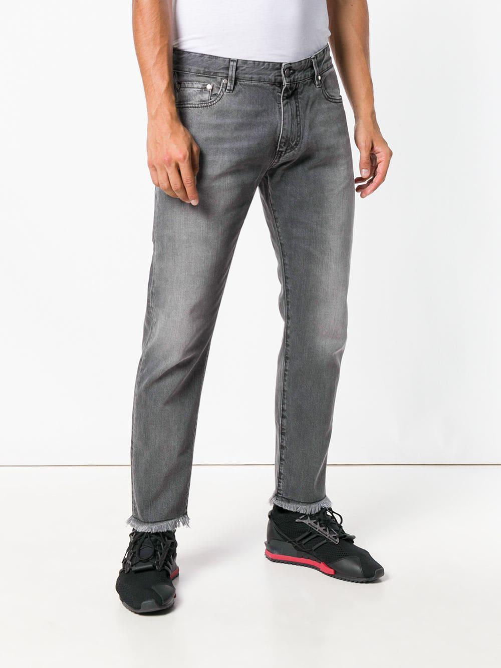 Represent Denim Faded Straight Leg Jeans in het Grijs voor heren