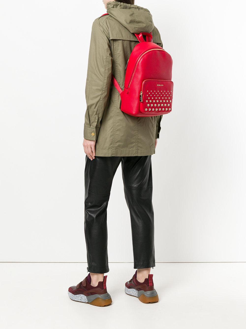 MICHAEL Michael Kors Leather Wythe Large Backpack in Red
