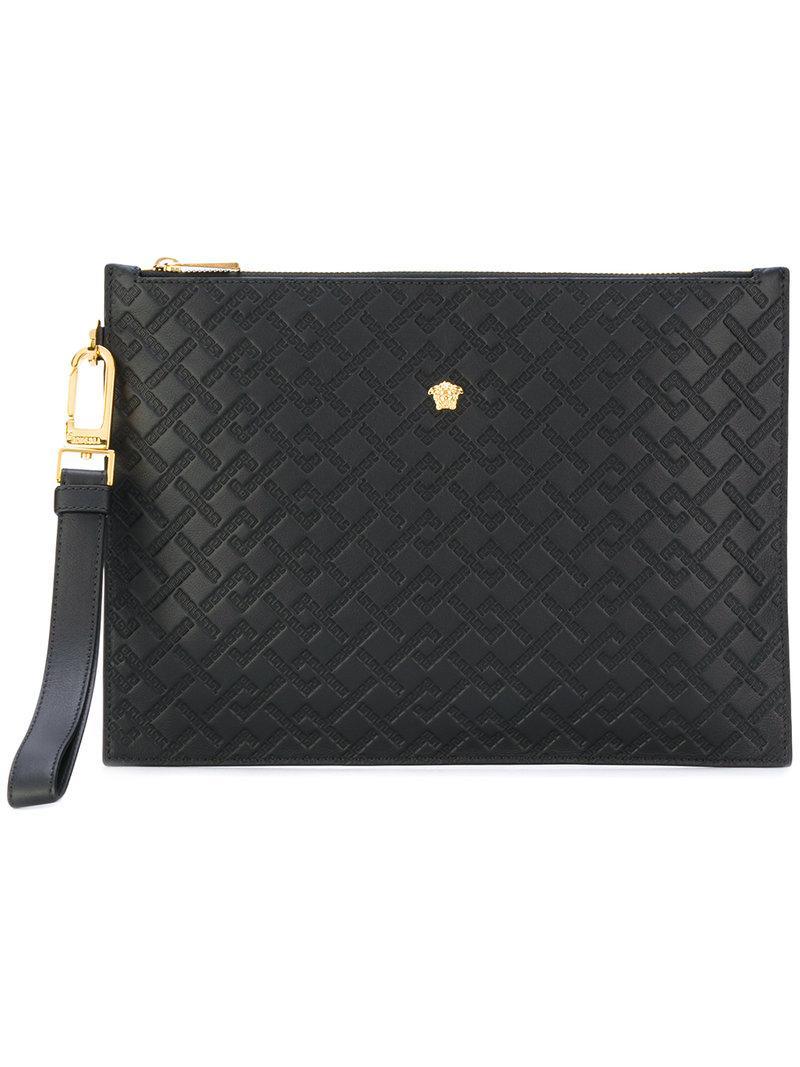 ce833d0a38 Versace Medusa Clutch Bag in Black for Men - Lyst