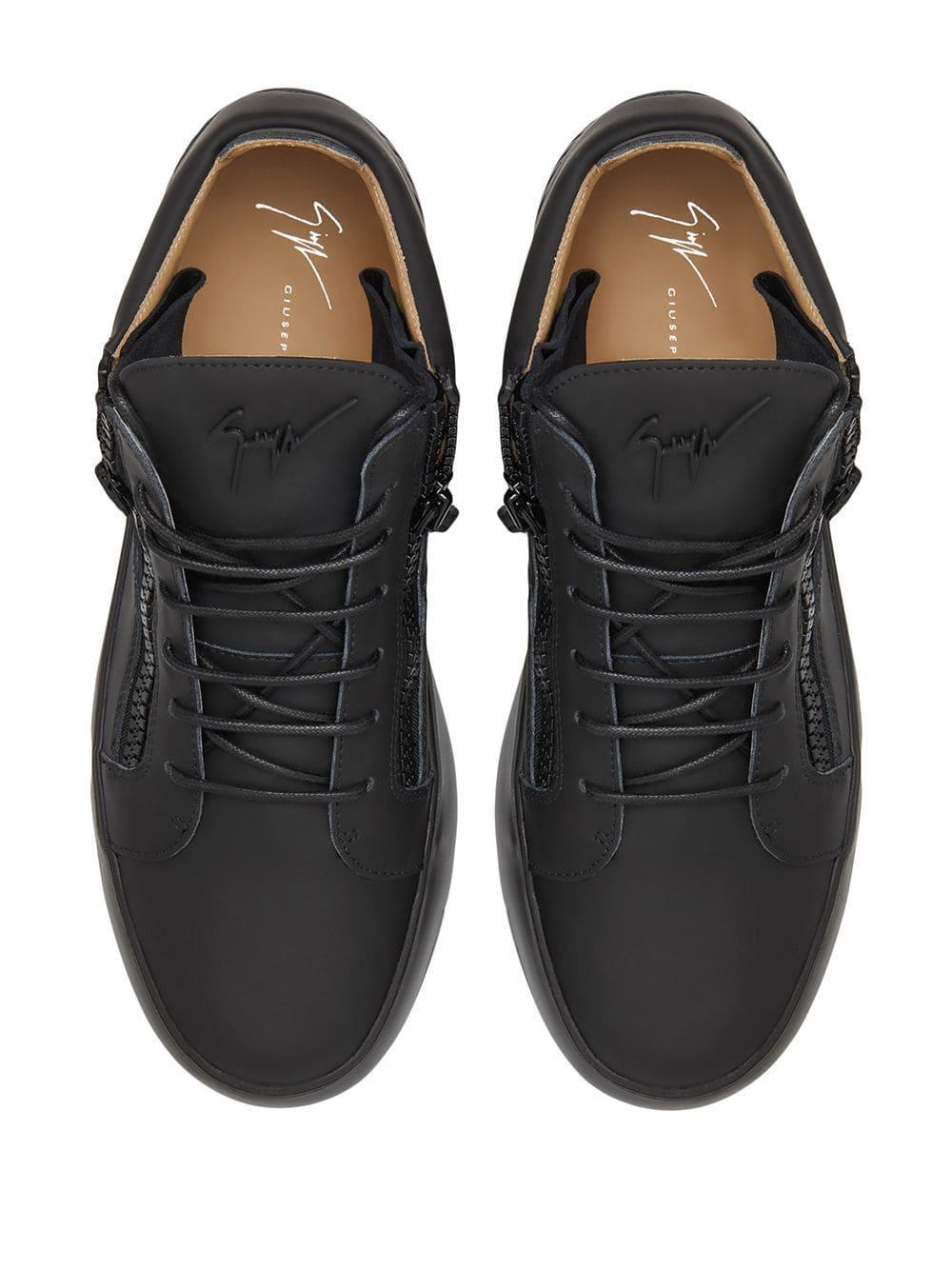 Zapatillas altas Addy Giuseppe Zanotti de Cuero de color Negro para hombre