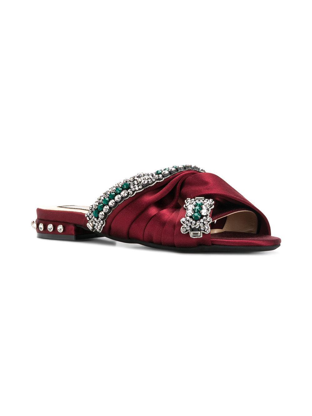 No21 Ewel embellished knot sandals xgyAevN7
