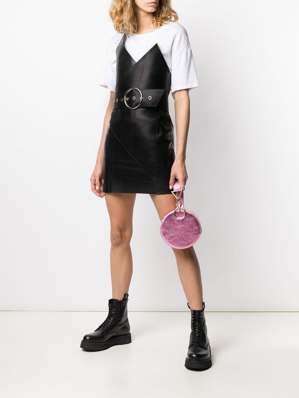 Vestido cruzado Alair Manokhi de Cuero de color Negro