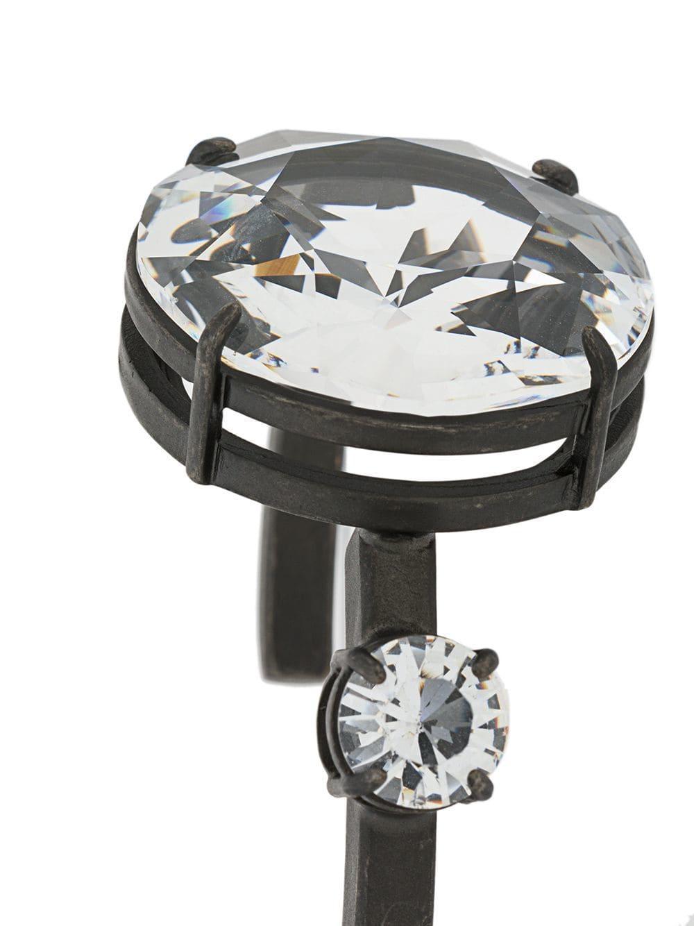 8f4aa1914ab Lyst - Miu Miu Oversized Crystal Bracelet in Metallic