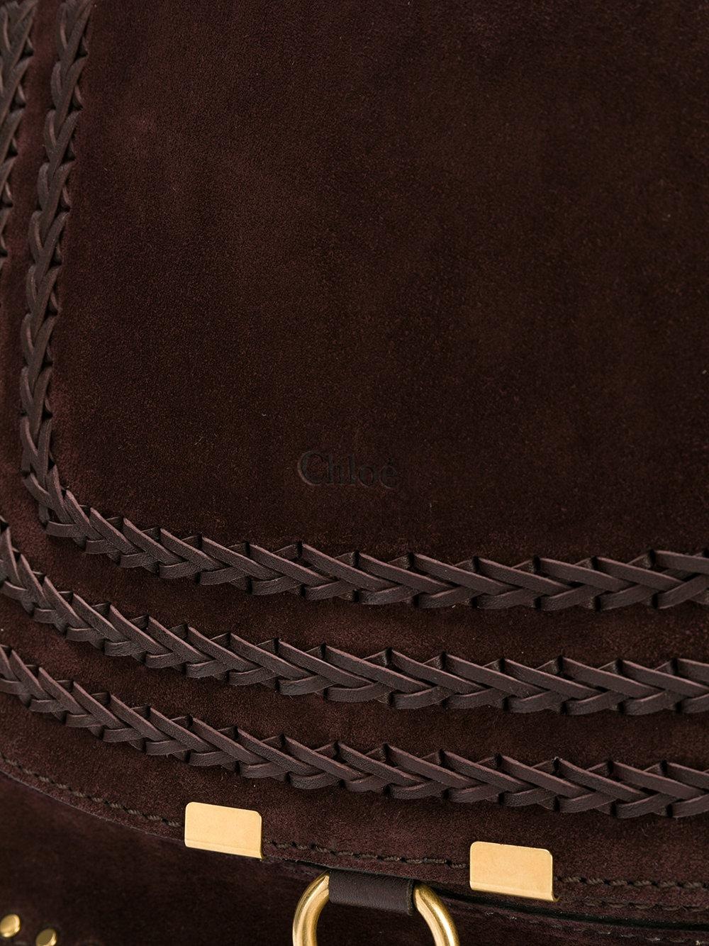 Chloé Leather Marcie Tote Bag in Brown