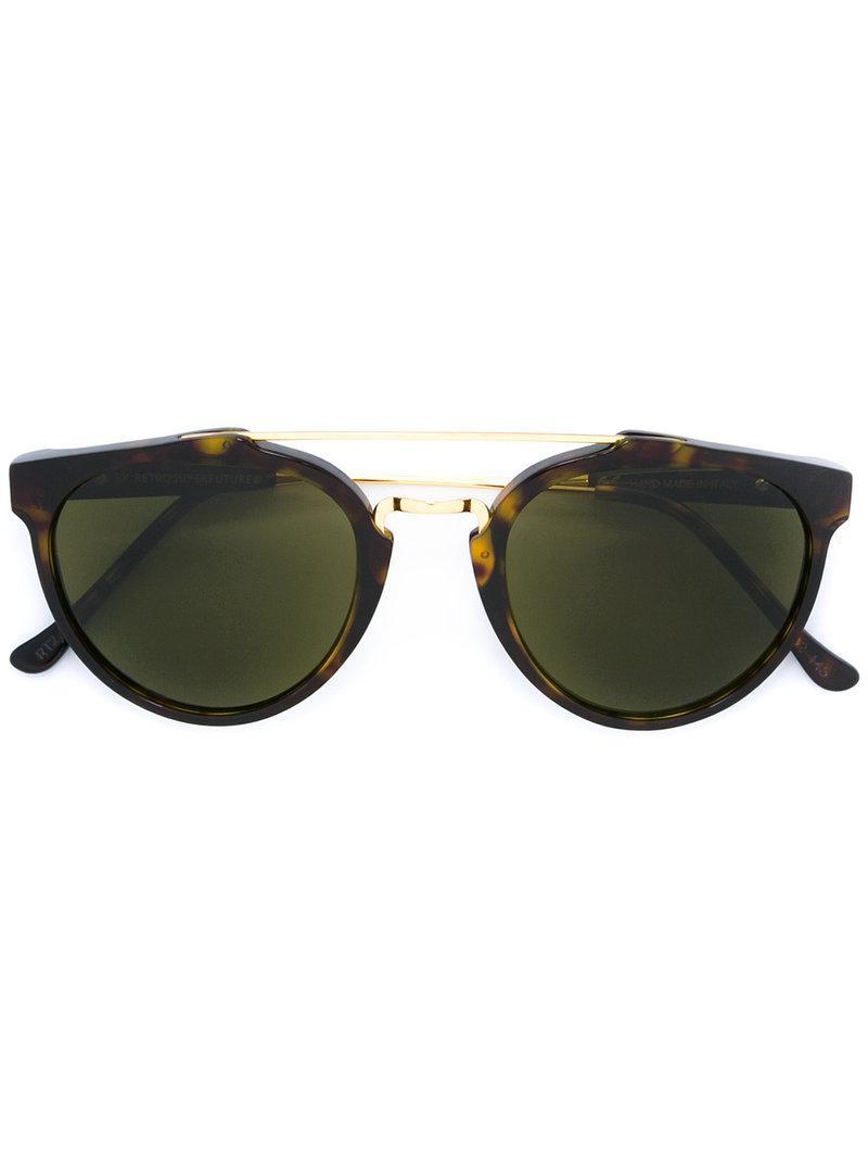 505d084235 Gafas de sol estilo ojo de gato Retrosuperfuture de color Marrón - Lyst