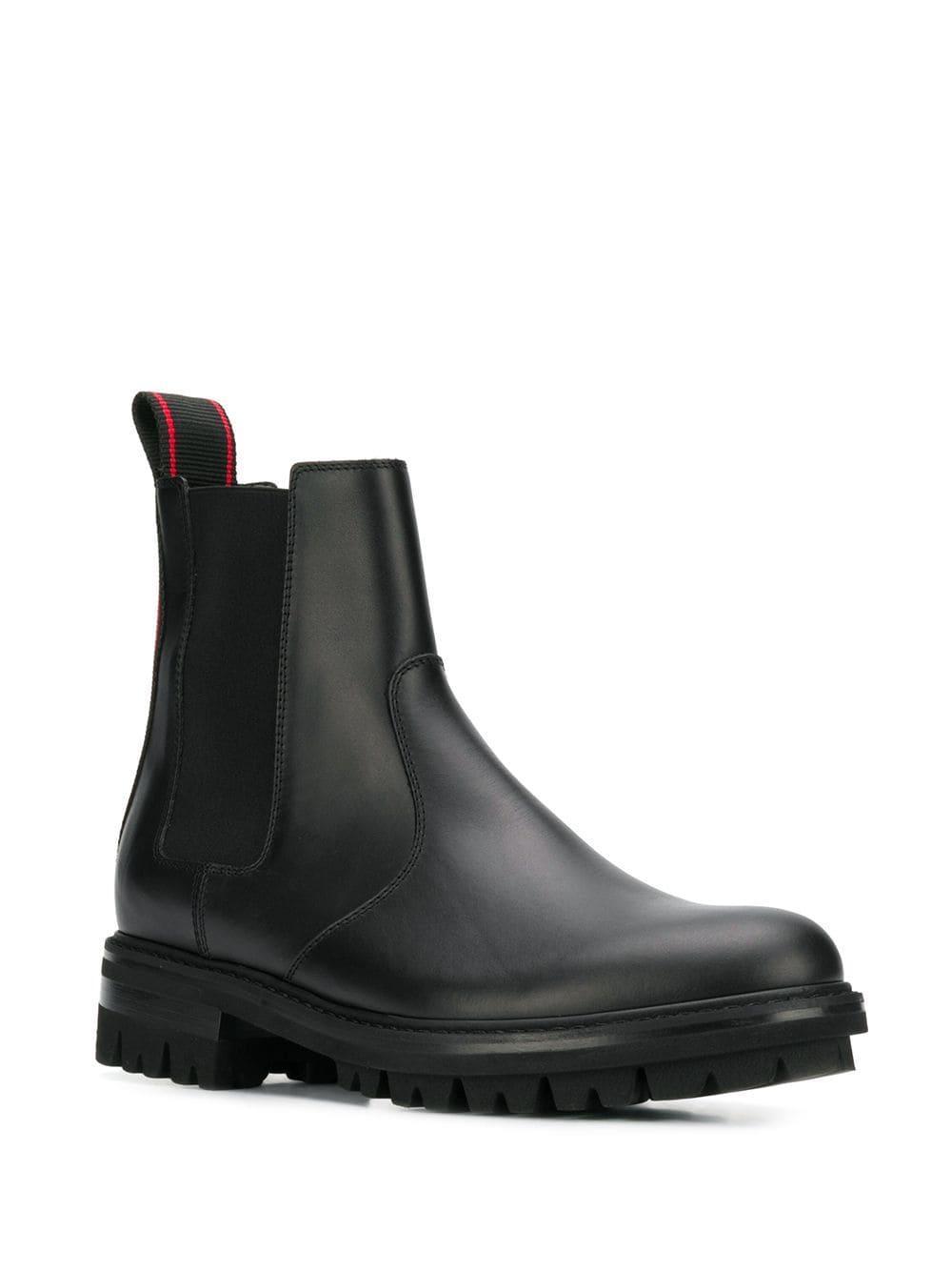 Botas con panel lateral elástico DSquared² de Cuero de color Negro para hombre