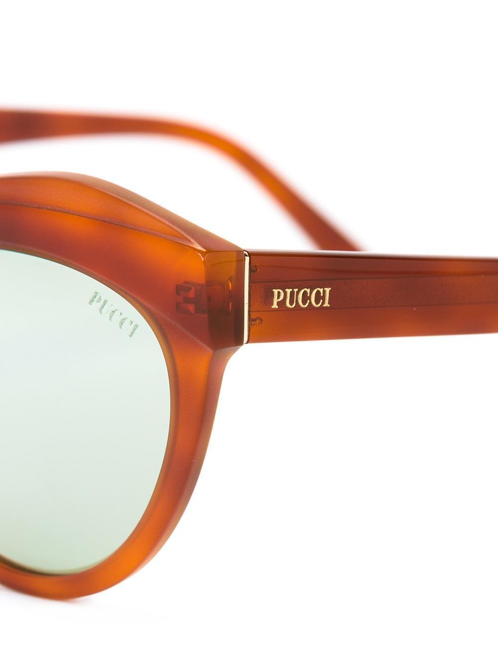Emilio Pucci - Oversized Frame Sunglasses - Women - Acetate - 55 in Brown