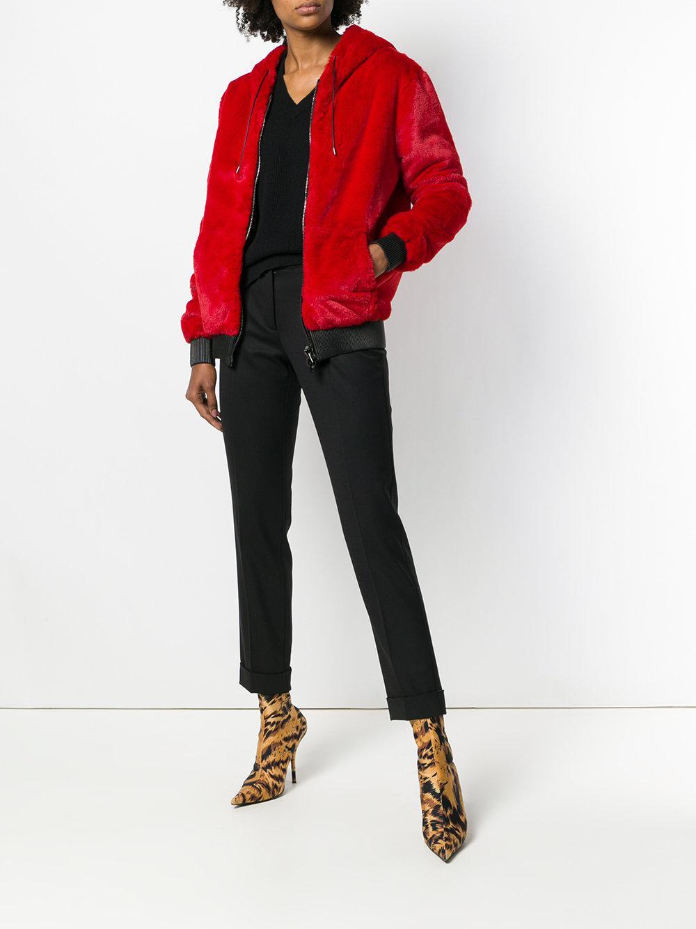 39c29c40fe3 Lyst - Tom Ford Fur Zip Hoodie in Red