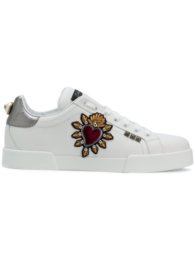 Sacred Heart Portofino sneakers - White Dolce & Gabbana QesNnAEhBf