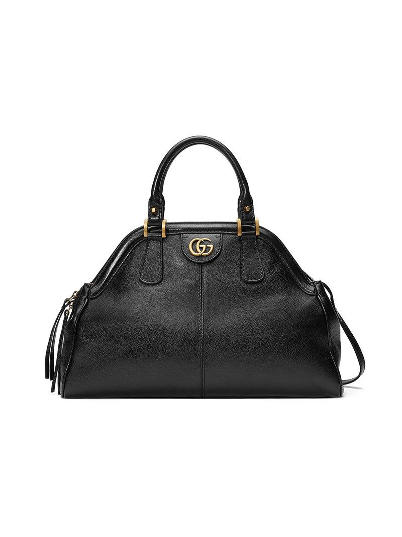 a16610804bd3 Gucci Re(belle) Medium Top Handle Bag in Black - Save 10% - Lyst