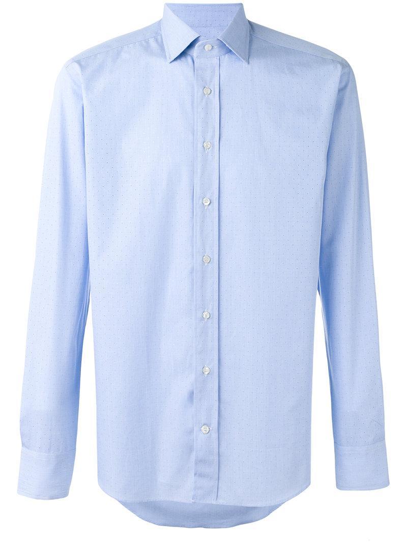 Etro. Men's Blue Classic Shirt