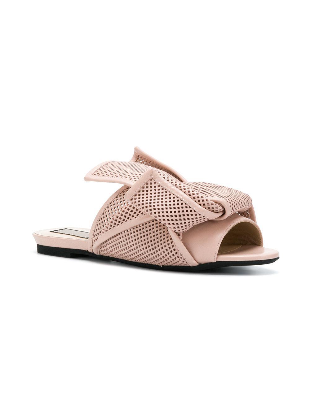 abstract bow mesh sandals - Nude & Neutrals N°21 Huge Surprise Online 5jNtwpdU