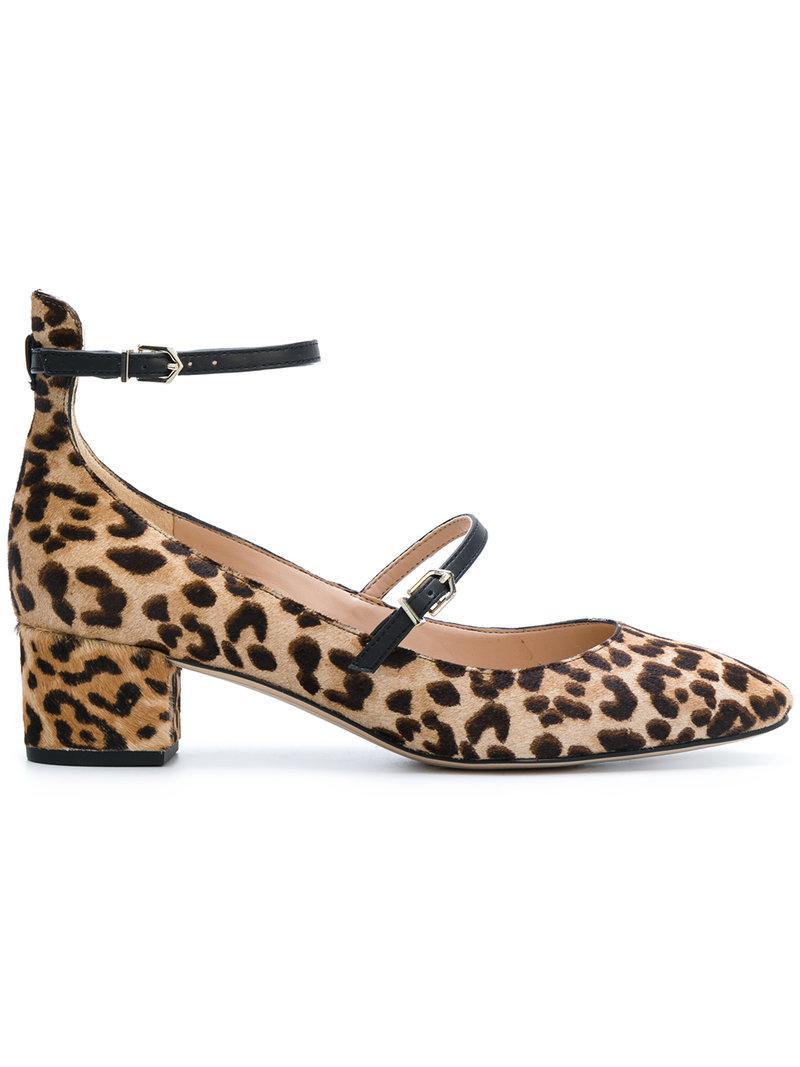 64f28ce0e159 Lyst - Sam Edelman Lulie Leopard Pumps in Brown