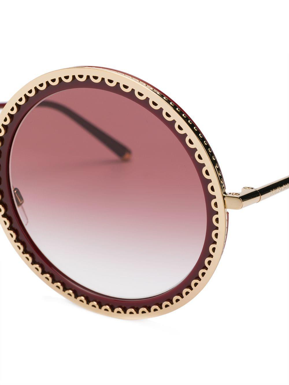 Sacro De Gabbana En Red Soleil Dolceamp; Coloris Lunettes Cuore WH9IED2