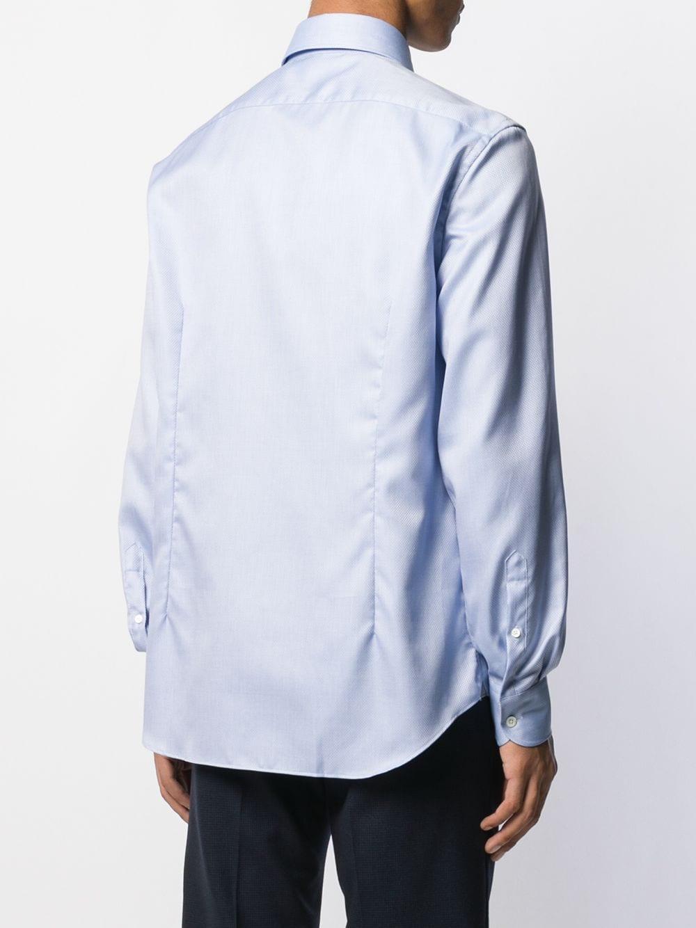 Corneliani Klassiek Overhemd in het Blauw voor heren