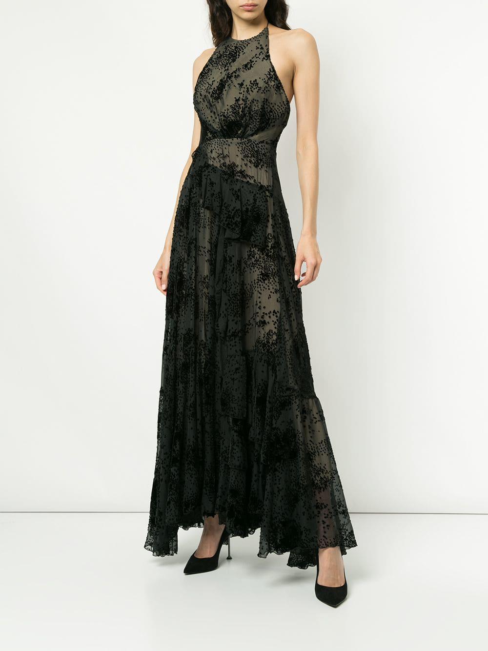 6a5b9ff829e Lyst - Alex Perry Halterneck Long Dress in Black