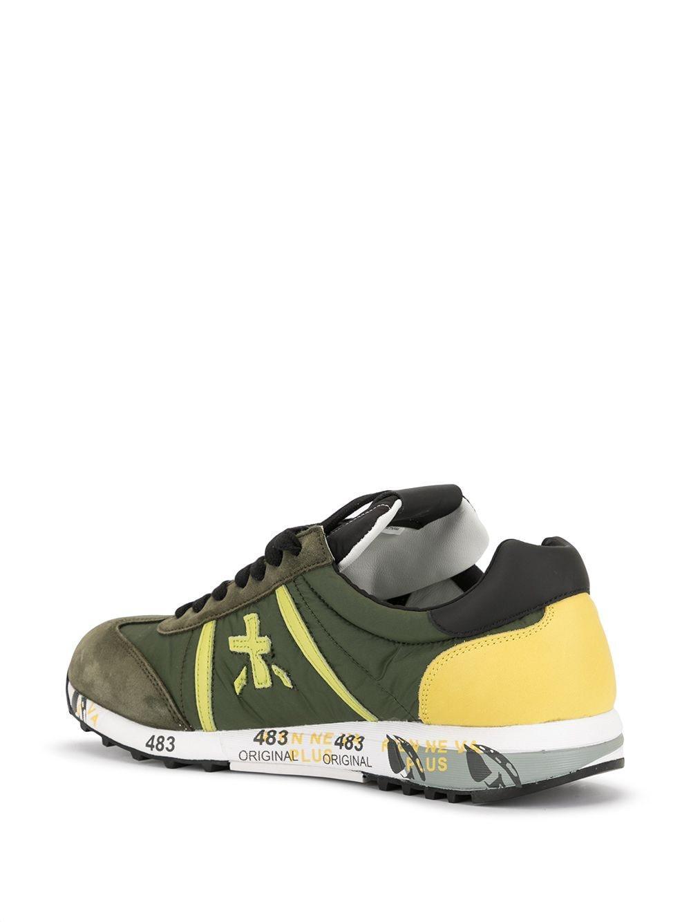 Zapatillas Lucy con contraste Premiata de Cuero de color Verde para hombre