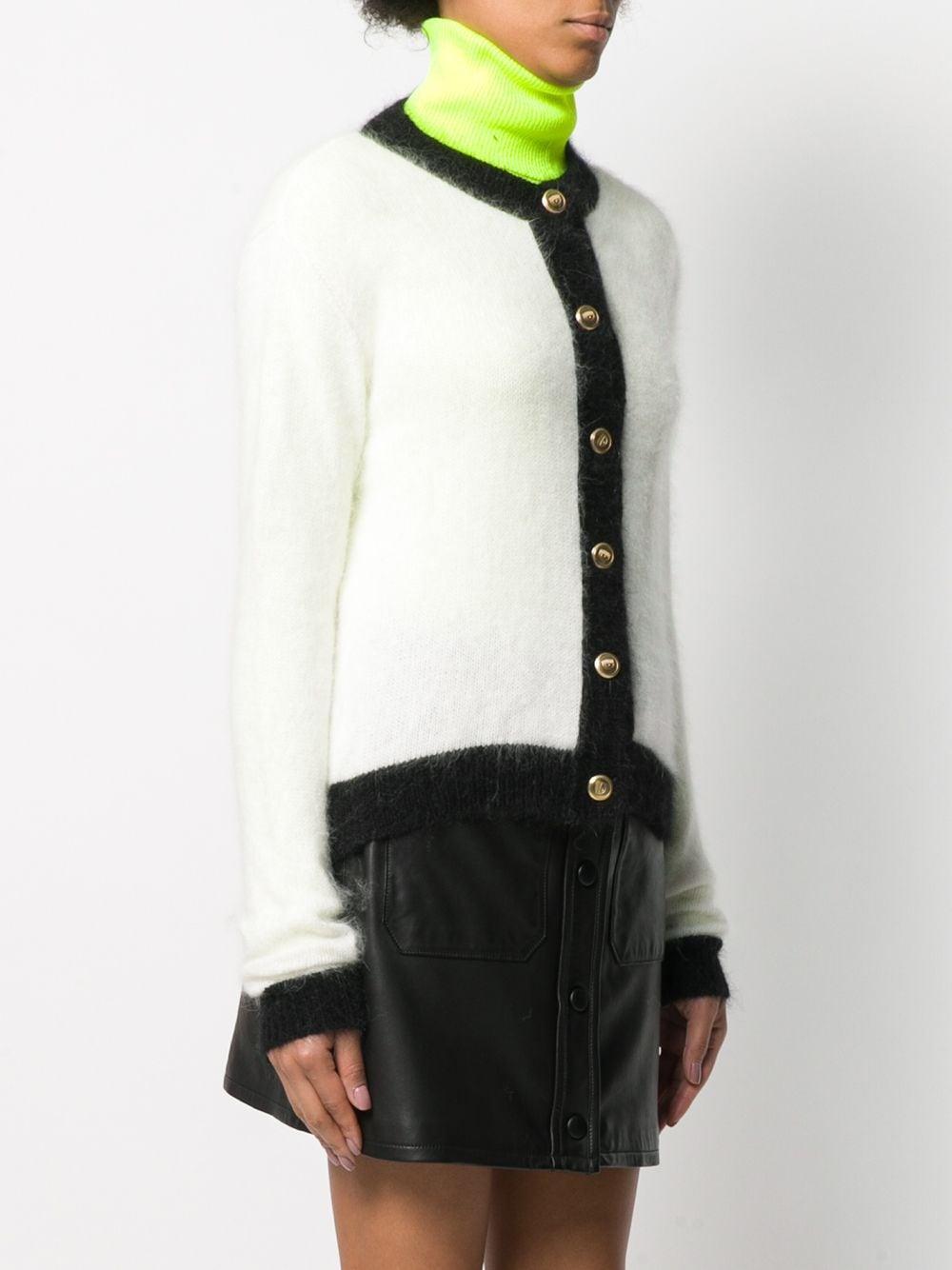 Cárdigan con ribete en contraste Chiara Ferragni de color Blanco