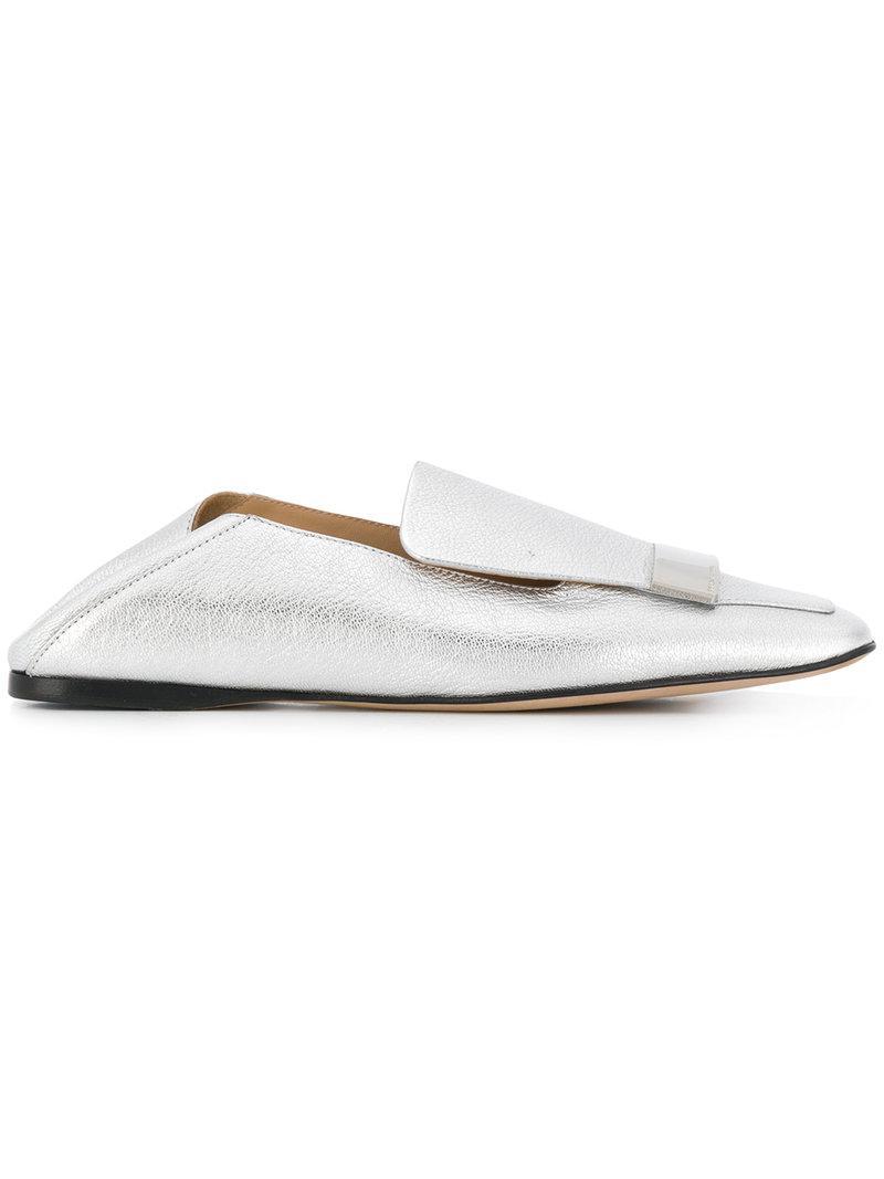 square toe loafers - Grey Sergio Rossi ErI16p1XQa