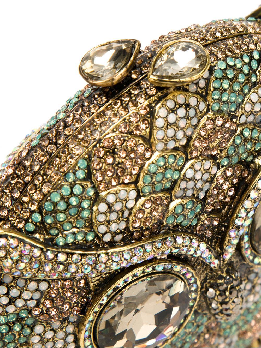 crystal embellished clutch bag - Green Isla Discounts Sale Online 8vpgqira