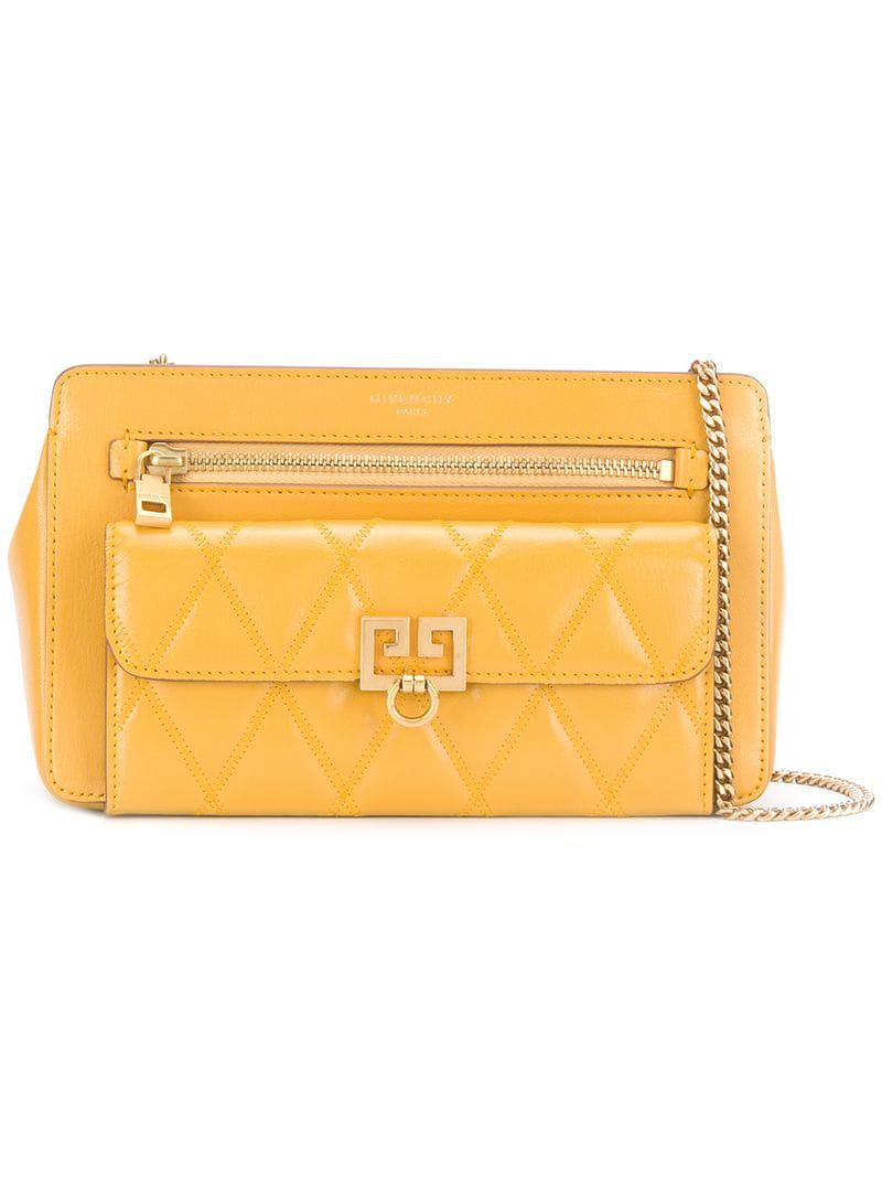 e9cb5b54a47 Lyst - Givenchy Diamond Quilted Bag in Yellow