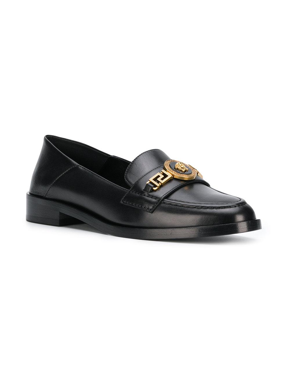 1430294ce087 Lyst - Versace Medusa Loafers in Black - Save 49%