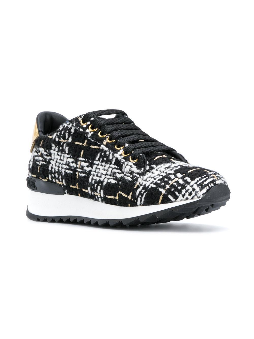 Casadei Tweed Sneakers in Black