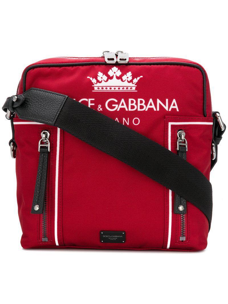 Dolce   Gabbana Logo Shoulder Bag in Red for Men - Lyst a27244d6497dd
