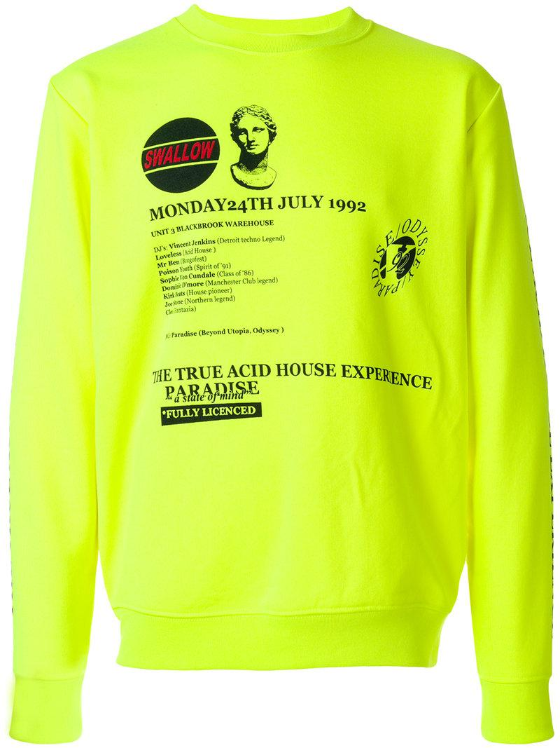 graphic print sweatshirt - Yellow & Orange Alexander McQueen 100% Guaranteed Best Seller Online Best Prices Cheap Price Cheap Sale Manchester Great Sale qwCXEEy