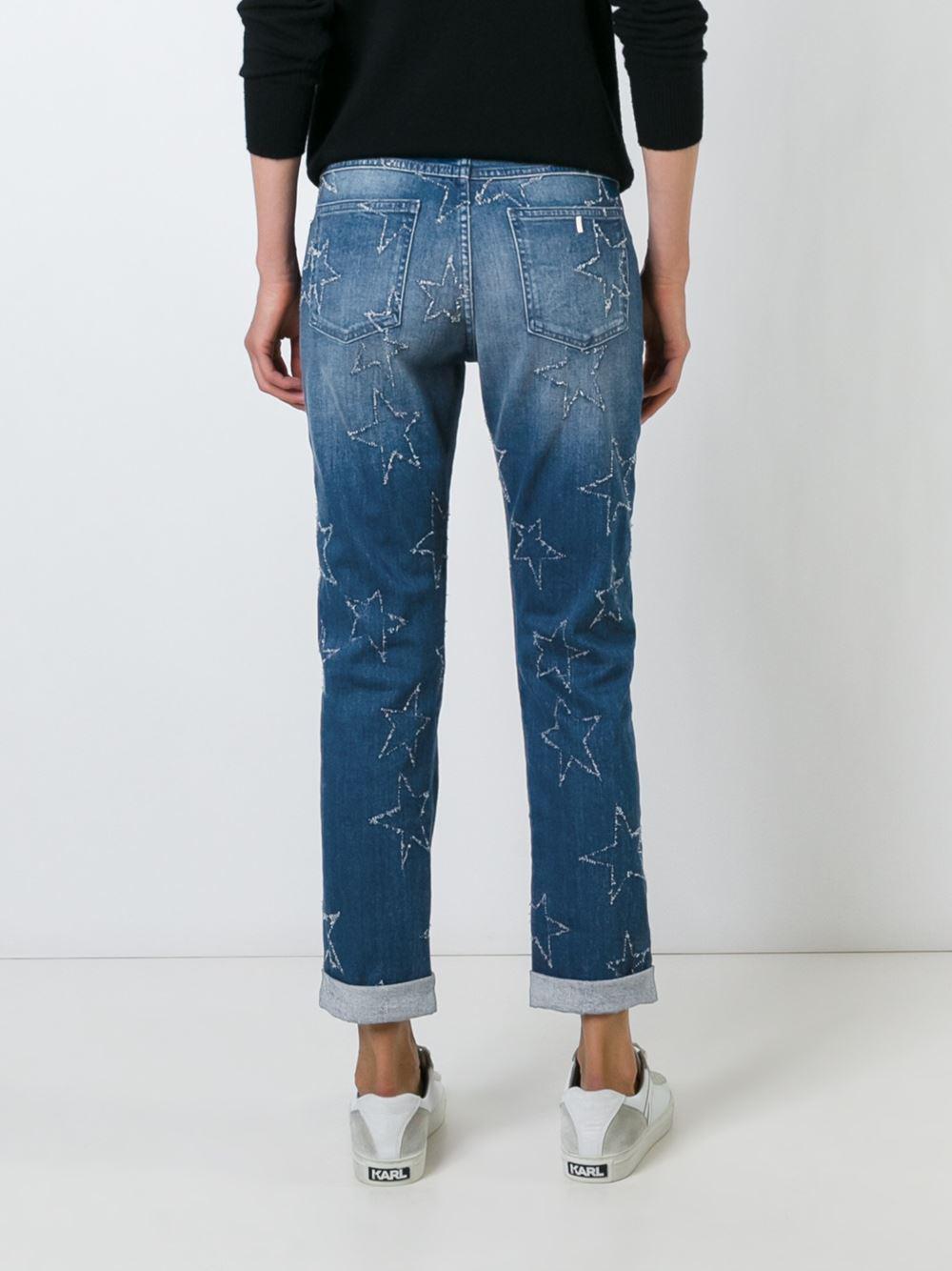 Stella McCartney Denim Star Accent Straight-fit Jeans in Blue
