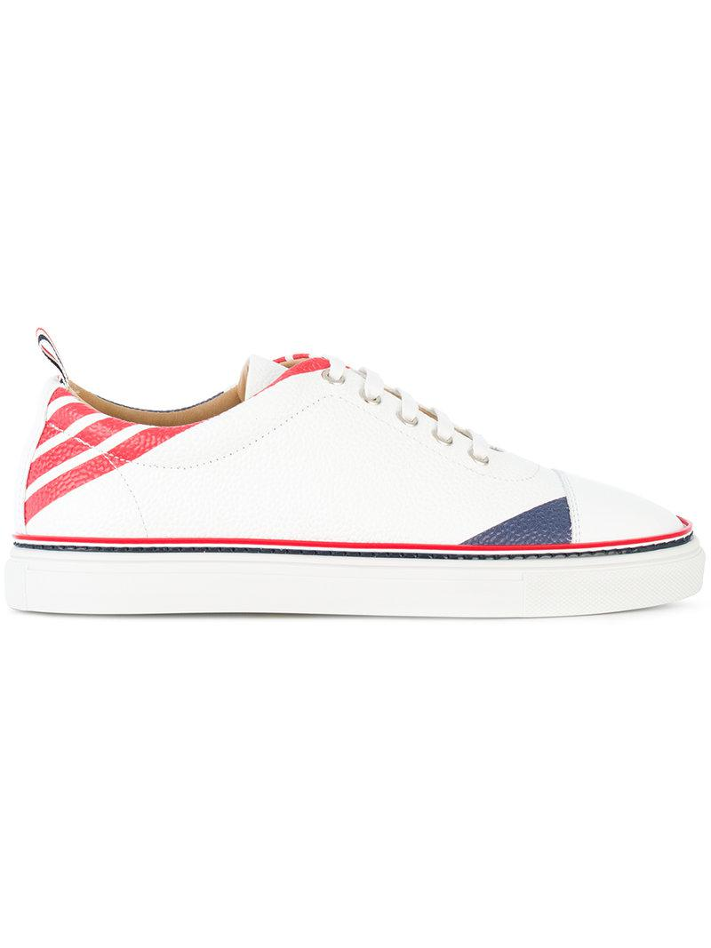 Thom Browne striped sneakers low price fee shipping for sale factory outlet online 58nJRaj