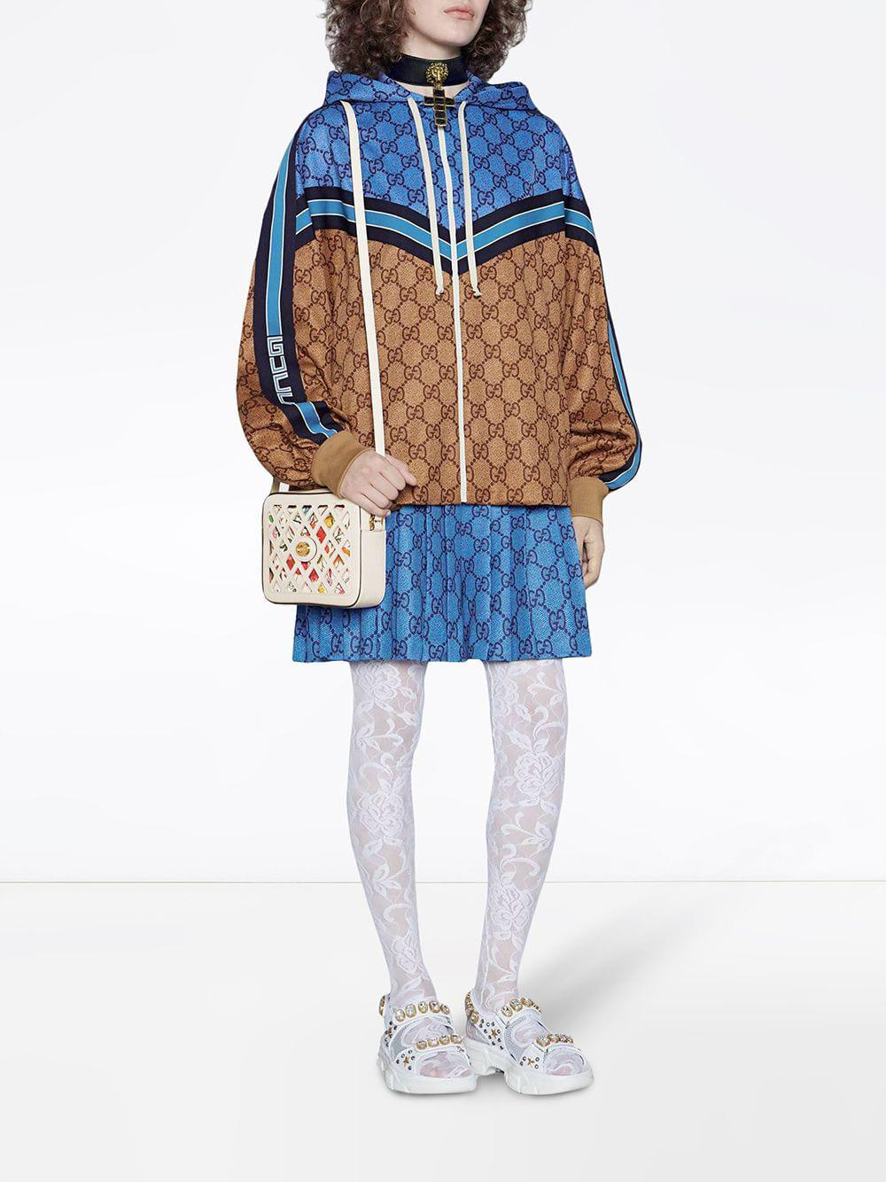 Lyst Gucci Gg Technical Jersey Jacket In Blue