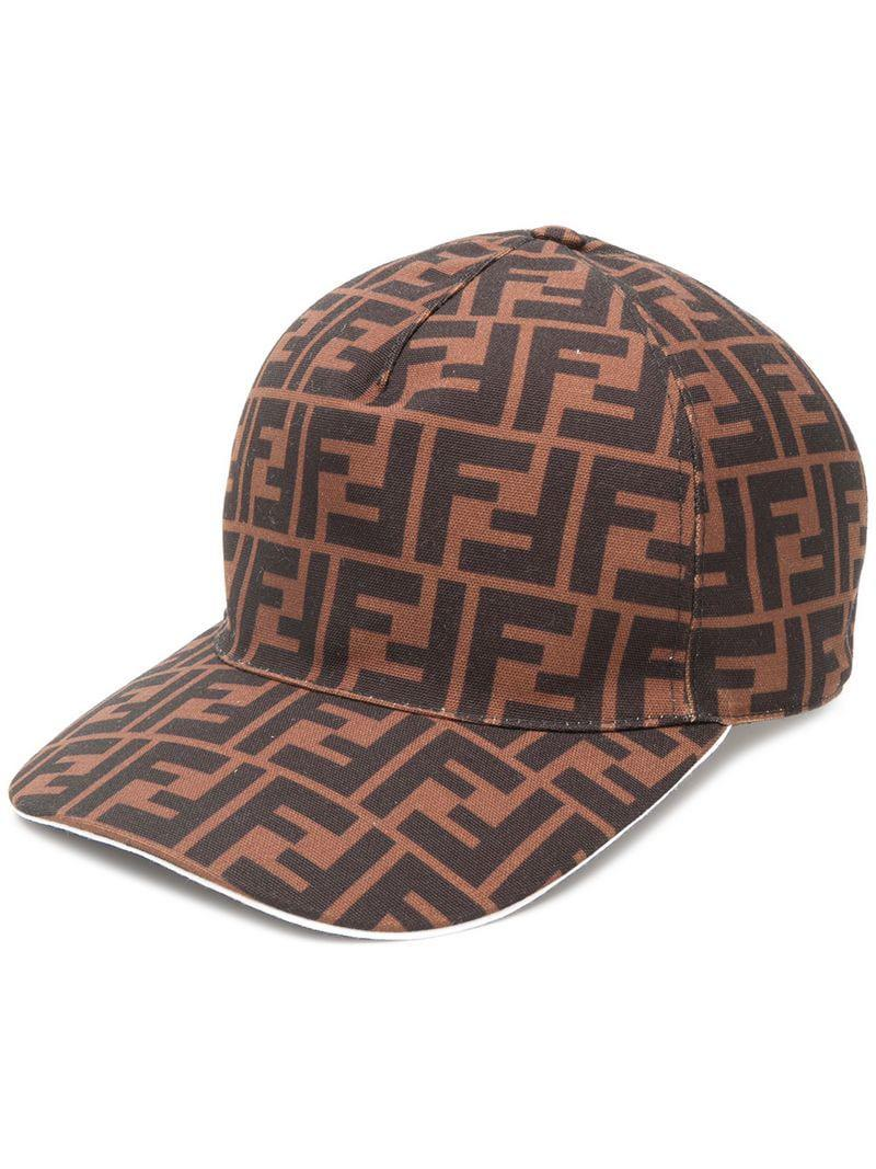 9eda149347d Fendi Logo Baseball Cap in Brown for Men - Save 31% - Lyst