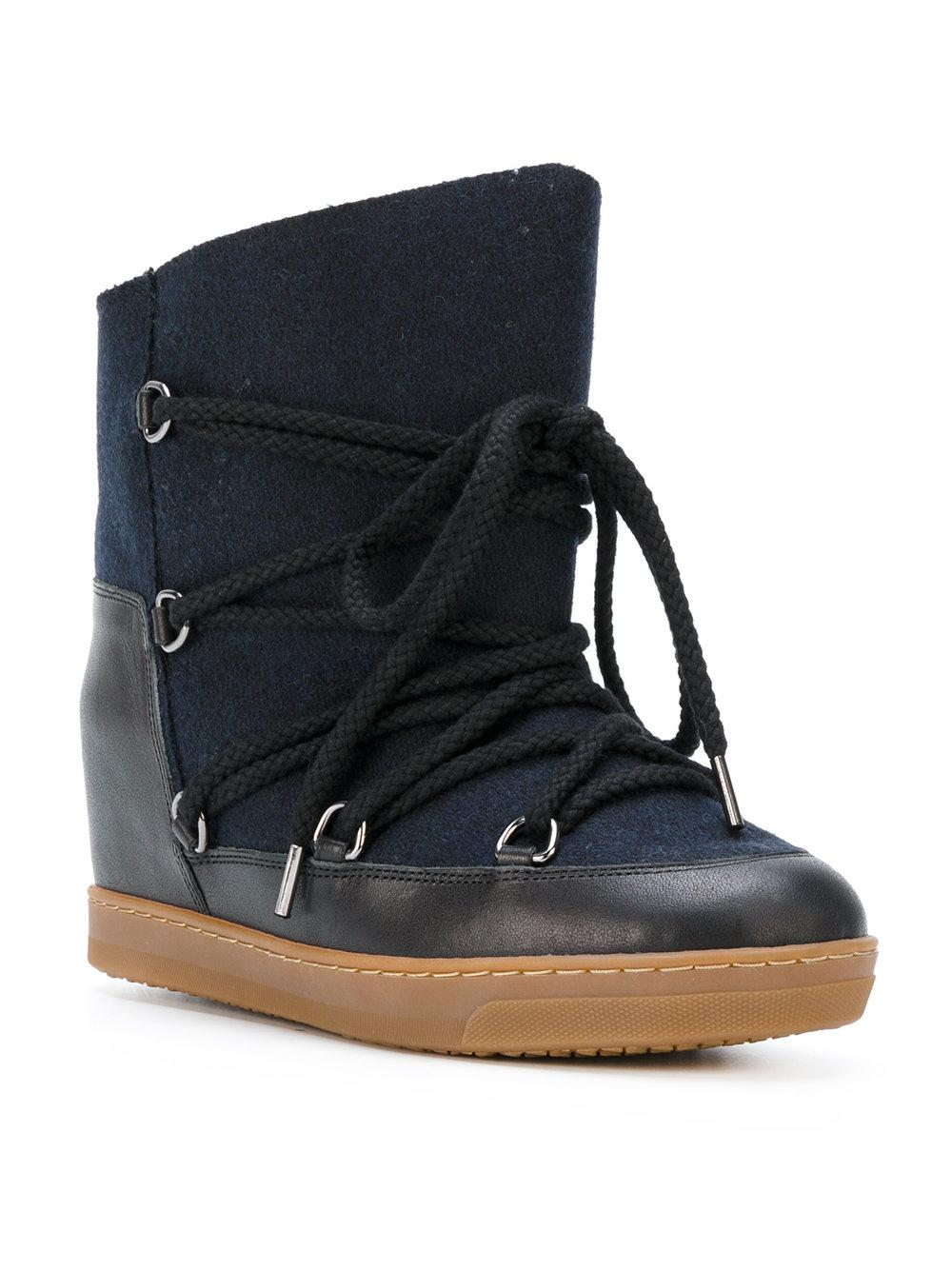 Isabel Marant Leather Étoile 'nowles' Lace-up Boots in Blue