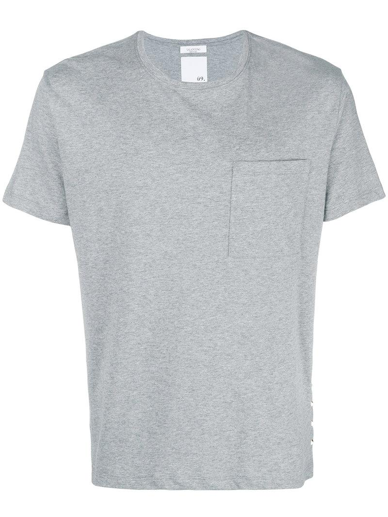 d7566f798 Lyst - Valentino Studded Loose T-shirt in Gray for Men