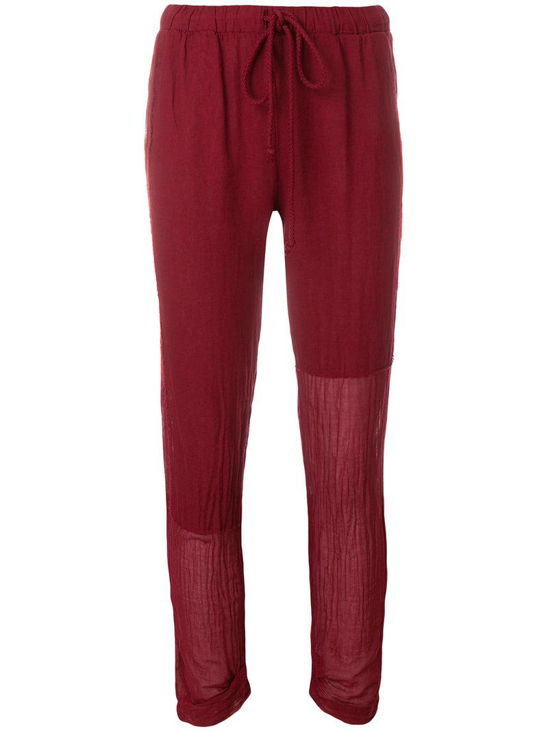 cropped drawstring trousers - Red Lost And Found Rooms LfDn8Nj