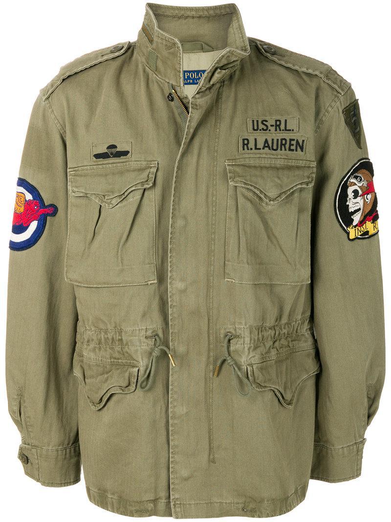 Polo Ralph Lauren Cotton Patch Appliqu 233 Military Jacket In