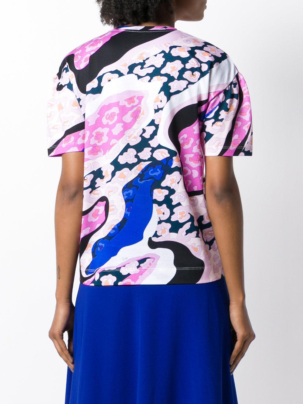 abstract logo print T-shirt - Pink & Purple Emilio Pucci Online Sale Online Outlet Footlocker Finishline Cheap Sale Pictures From China For Sale SpEj1iOQ