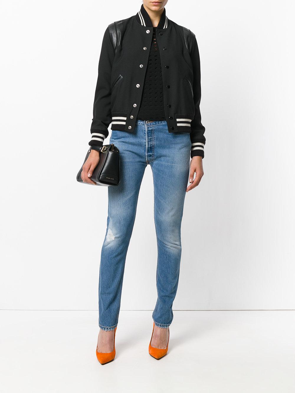RE/DONE Denim Straight Leg Skinny Jeans in Blue