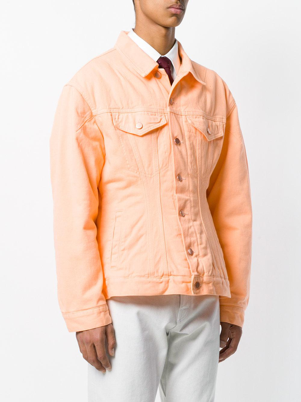 Martine Rose Quilted Denim Jacket in Yellow & Orange (Orange) for Men