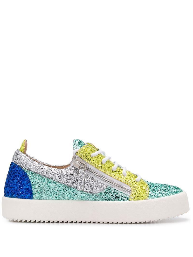 d7e92e785e9e2 Lyst - Giuseppe Zanotti Gail Glitter Sneakers in Green