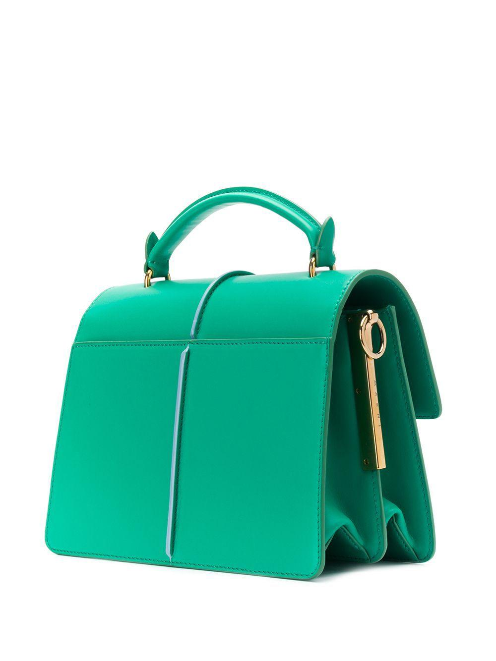 Petit sac porté épaule à chaîne Cuir Marni en coloris Vert