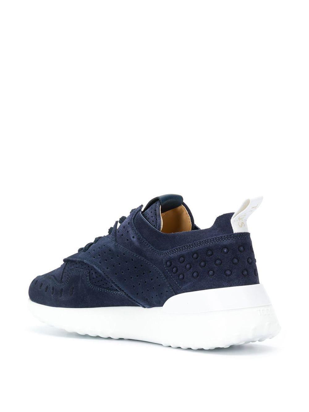 Zapatillas con cordones Tod's de Cuero de color Azul