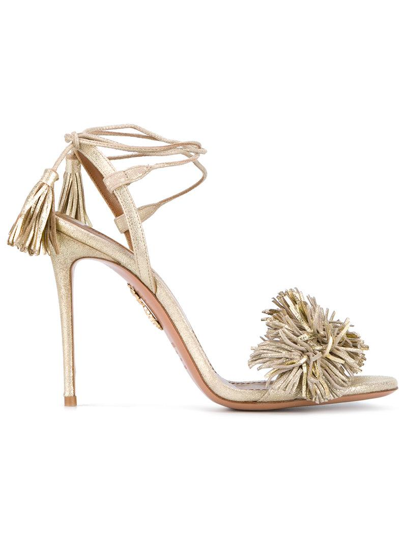 Aquazzura Sexy Thing Metallic Sandals perfect online discount outlet clearance wiki free shipping fashion Style YzS8lXOJDd