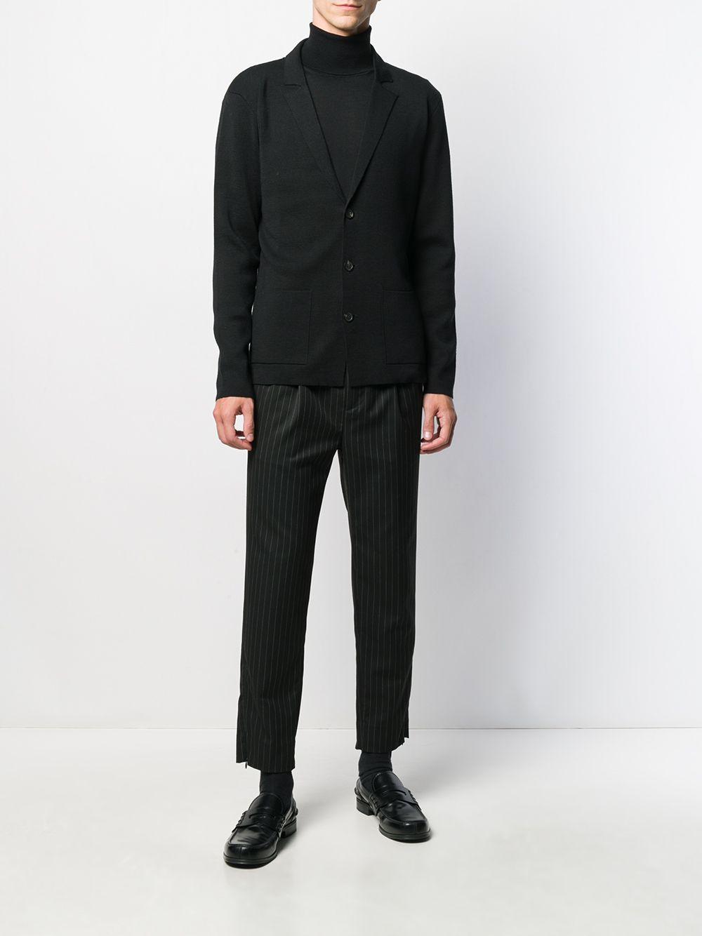 Altea Wol Vest Met V-hals in het Zwart voor heren