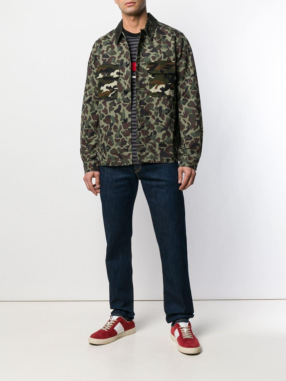 PS by Paul Smith Katoen Button Down Overhemd Met Print in het Groen voor heren