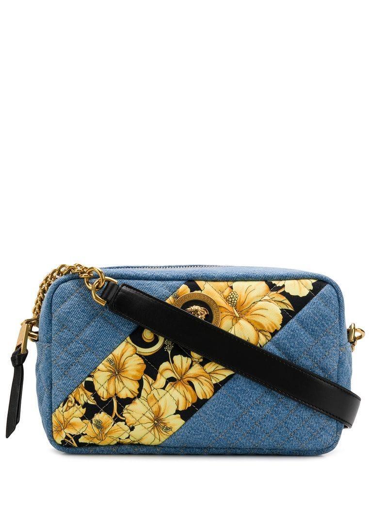 81e9bcb8 Versace Baroque-print Shoulder Bag in Blue - Lyst